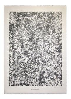 Gravier Perlier - From Eaux, Pierres, Sable - Original Lithograph by J. D.- 1959