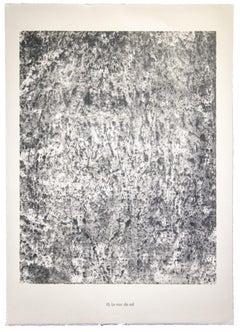 Le Mur de Sol - Original Lithograph by Jean Dubuffet - 1959