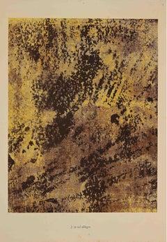 Le Sol Allègre - Original Lithograph by Jean Dubuffet - 1959