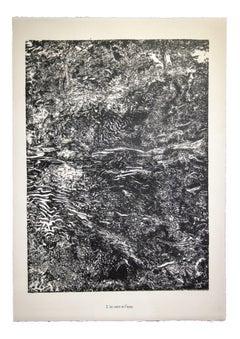 Le Vent et l'Eau - From Eaux, Pierres, Sable - Original Lithograph - 1959