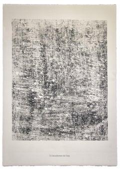 L'écoulement de l'eau - Original Lithograph by Jean Dubuff - 1959