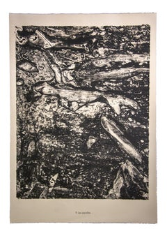 Les Squales - Original Lithograph by Jean Dubuffet - 1959