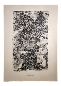 Lit d'épluchures - Original Lithograph by Jean Dubuffet - 1959