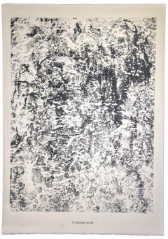 Paysage au Sol - Original Lithograph by Jean Dubuffet - 1959