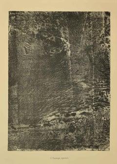 Paysage Japonais - Original Lithograph by Jean Dubuffet - 1959