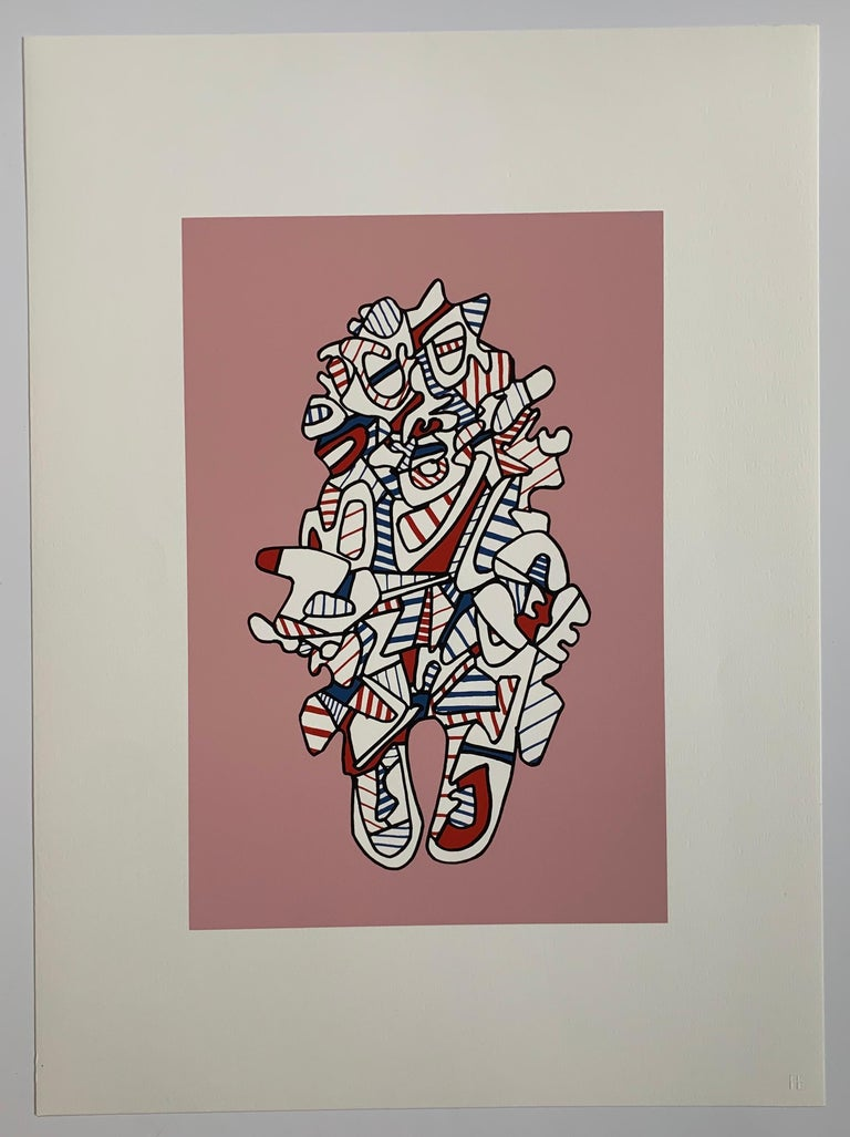 Presences fugaces  - set of 6 - Print by Jean Dubuffet