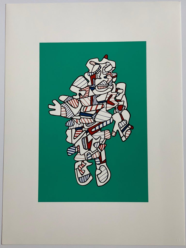 Presences fugaces  - set of 6 - Beige Abstract Print by Jean Dubuffet