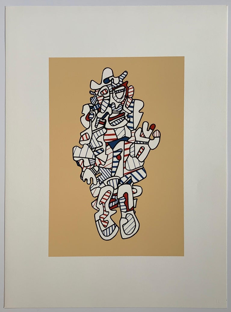 Complete Set of six screenprints by Jean Dubuffet titled 'Presences fugaces'  This portfolio was published by Ives-Sillman for Pace Editions in 1973 in an edition of 120 on Dutch Etching Paper. Provenance :  estate of the publisher  SIllman Please