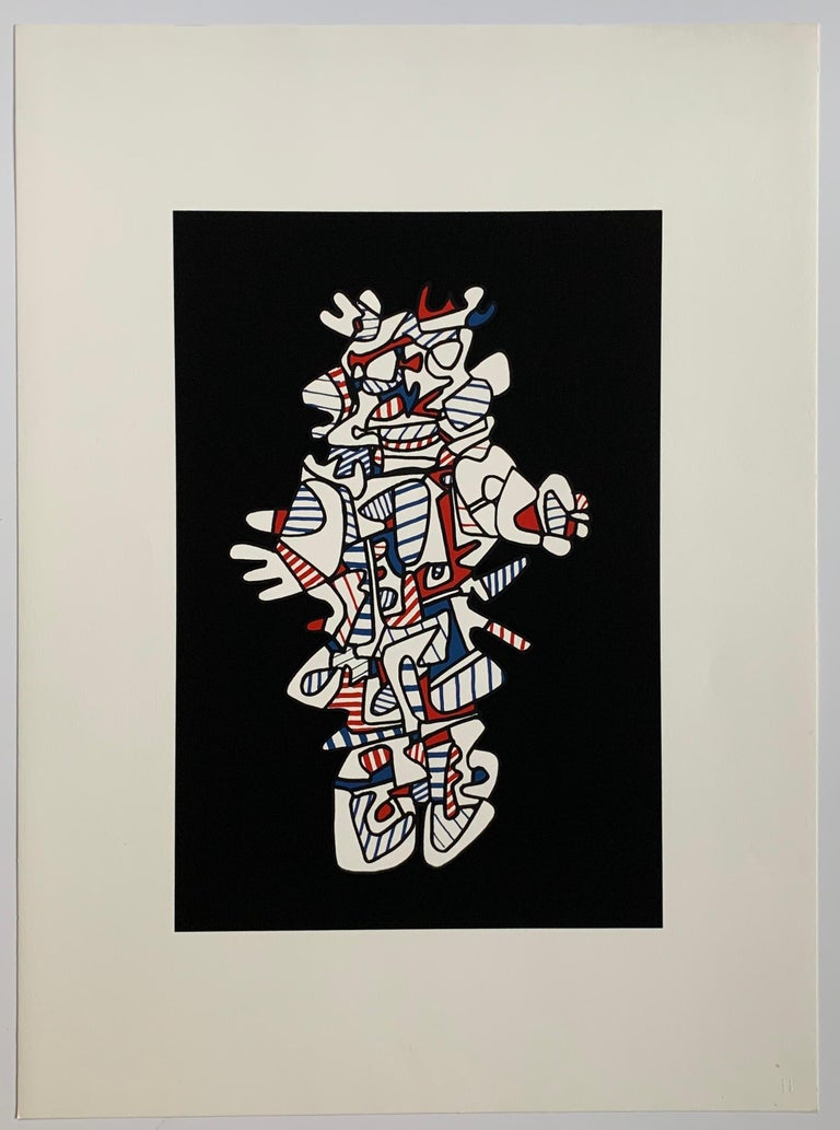 Jean Dubuffet Abstract Print - Presences fugaces  - set of 6