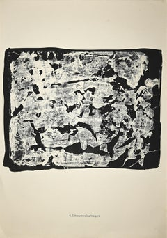 Silhouettes Burlesques - Original Lithograph by Jean Dubuffet - 1958