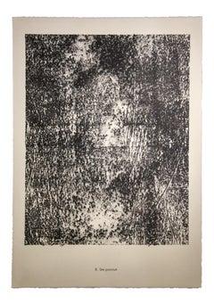 Site Ponctué - Original Lithograph by Jean Dubuffet - 1959