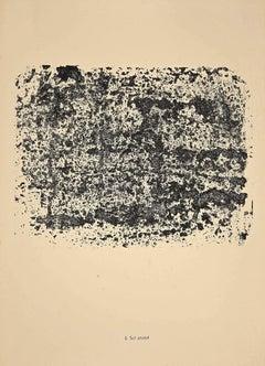 Sol Animè - Original Lithograph by Jean Dubuffet - 1958