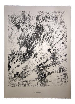 Surplomb - Original Lithograph by Jean Dubuffet - 1959