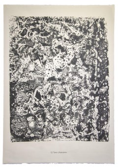 Terre Chamarree - Original Lithograph by Jean Dubuffet - 1959