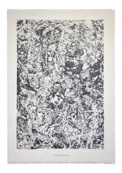 Texte de roche- From Eaux, Pierres, Sable - Original Lithograph by Jean D.- 1959