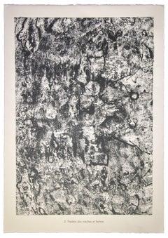 Theatre des Mèches et Larmes - Original Lithograph by Jean Dubuffet - 1959