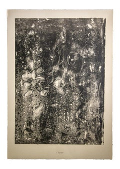Torrent - Original Lithograph by Jean Dubuffet - 1950s