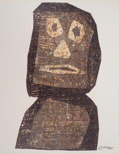 Totem (Easter Island Moai) - Original lithograph