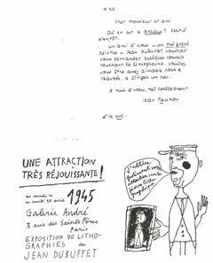 Une Attraction très Rejoussante - Original Lithograph after Jean Dubuffet - 1982