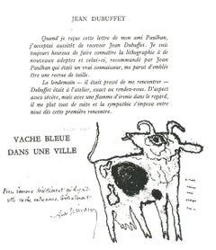 Vache Blue dans une Ville - Original Lithograph after J. Dubuffet - 1982