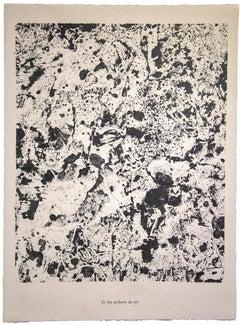 Vie Ardente du Sol - Original Lithograph by Jean Dubuffet - 1959