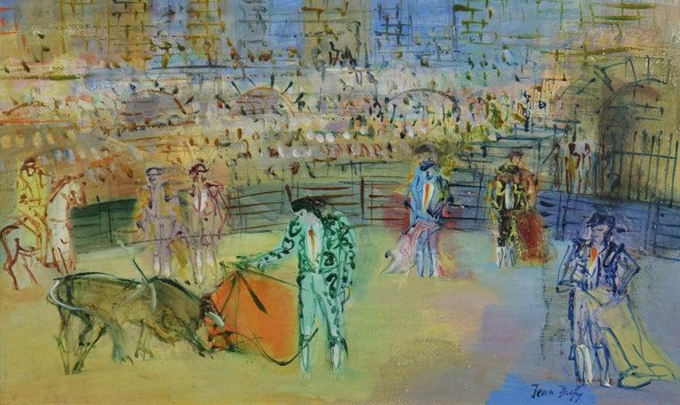 Corrida Espagnole by JEAN DUFY - bullfighting scene, oil on canvas, modern art For Sale 1