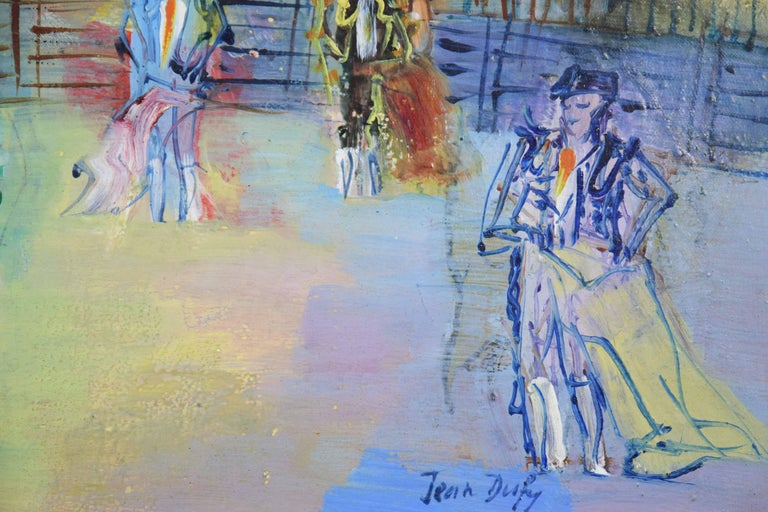 Corrida Espagnole by JEAN DUFY - bullfighting scene, oil on canvas, modern art For Sale 2