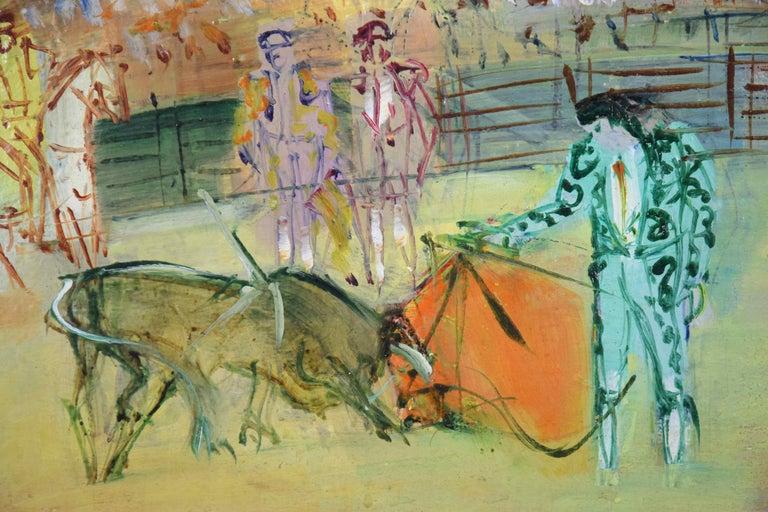 Corrida Espagnole by JEAN DUFY - bullfighting scene, oil on canvas, modern art For Sale 3