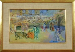 Corrida Espagnole by JEAN DUFY - bullfighting scene, oil on canvas, modern art