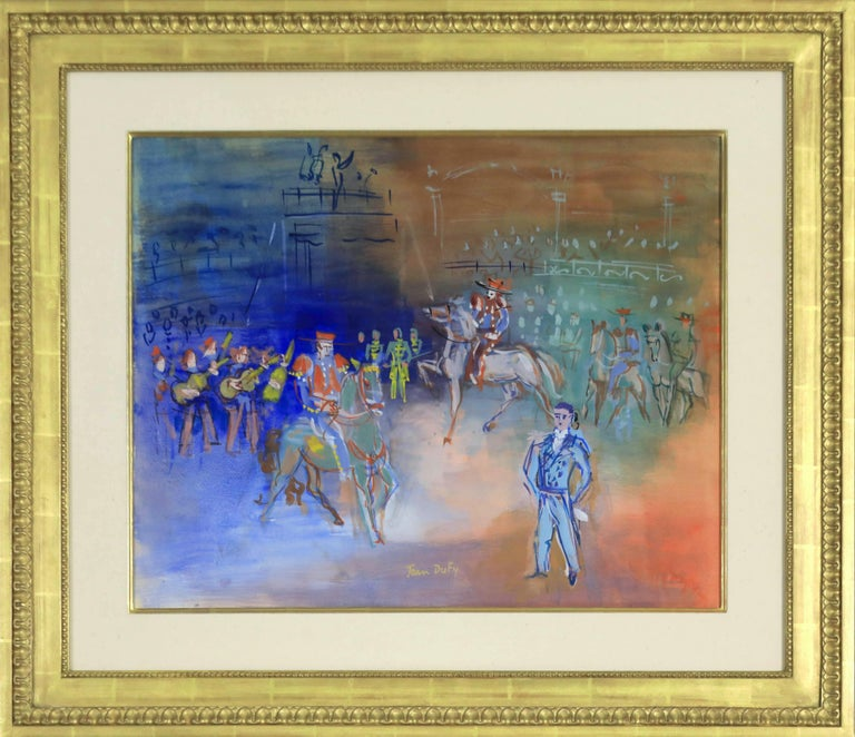 Parade Mexicaine by JEAN DUFY - Modern, Animals, Colourful, Fauve, Gouache  - Painting by Jean Dufy