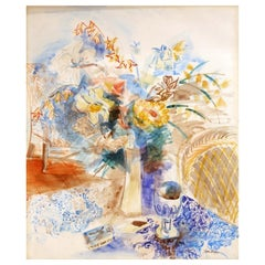 Jean Dufy, Still Life, Watercolor/Pencil