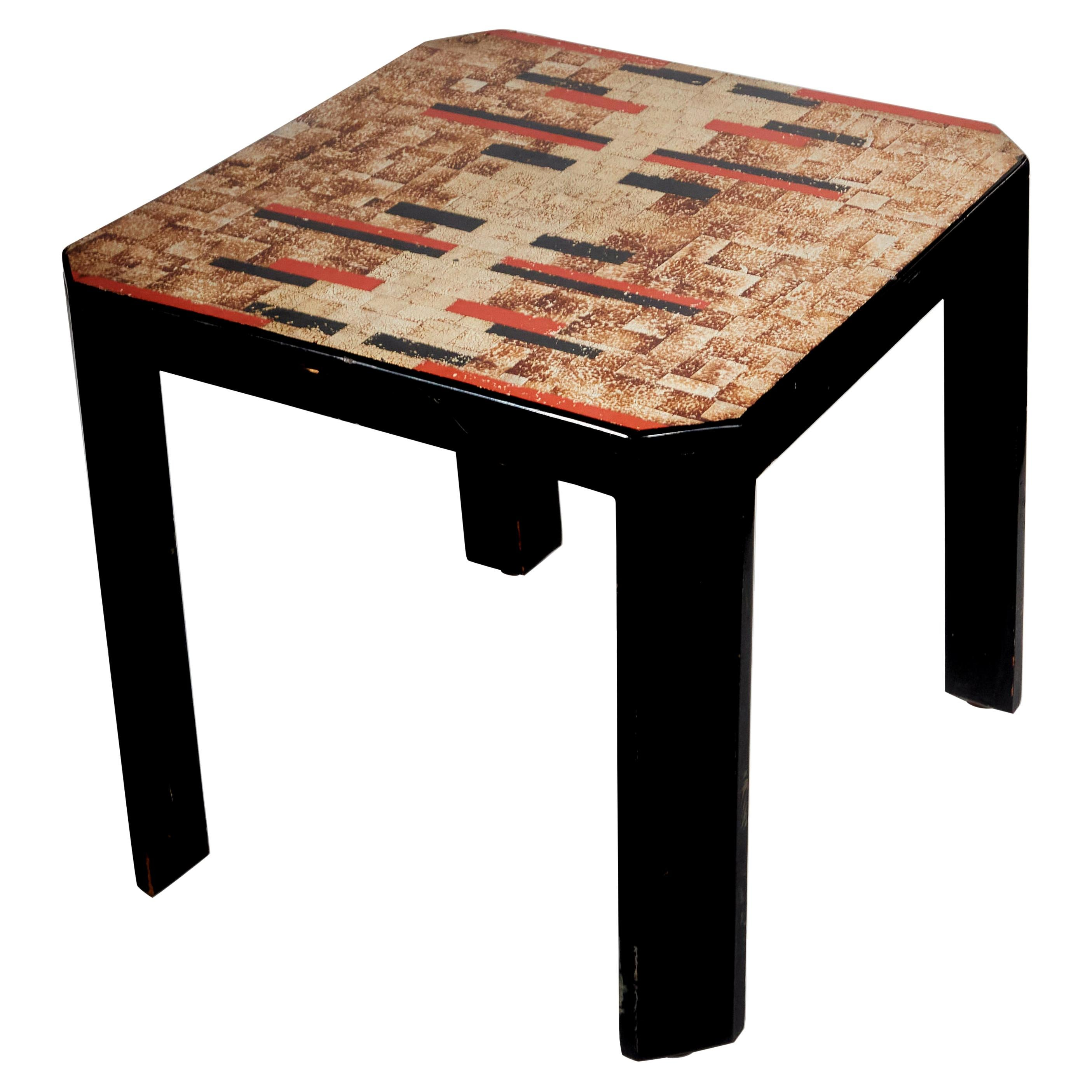 Jean Dunand, Art Deco Lacquered Side Table, France, 1920s