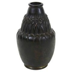 Jean Dunand French Art Nouveau Bronze Vase