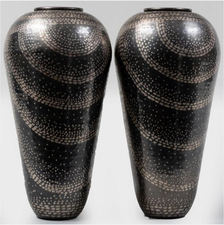 French Jean Dunand Vases For Sale