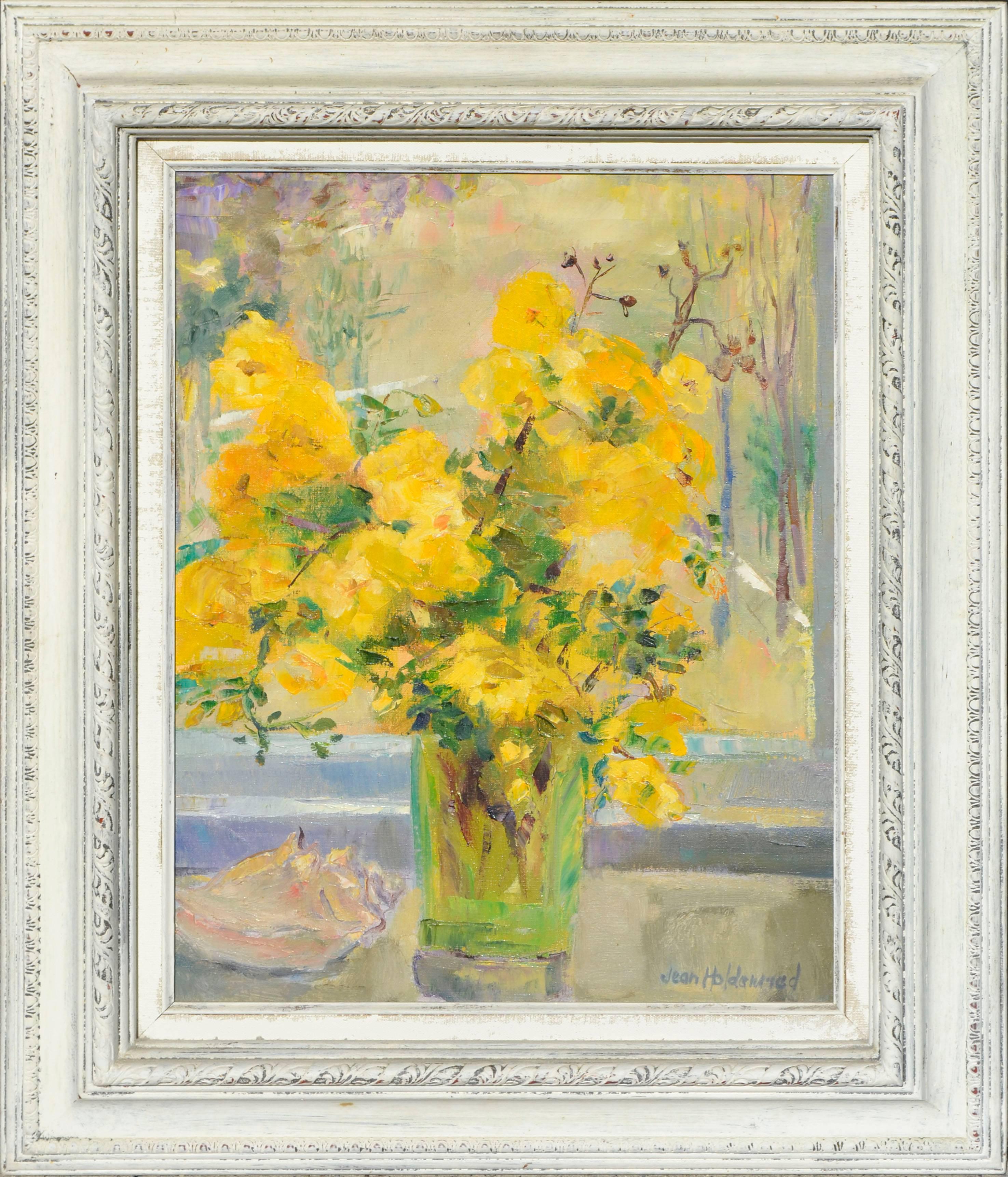 Yellow Roses - Mid Century Still Life