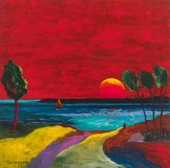 """""""Soir paisible dans le murmure du vent"""" - - France, Brittany, Sun, Expressionist"""