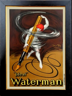 Jean D'Ylen, Waterman Ideal Fountain Pen, Vintage Lithograph Poster