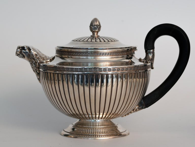 Jean E. Puiforcat Silver Timeless Set for Tea and Coffee in Neoclassical Form For Sale 5
