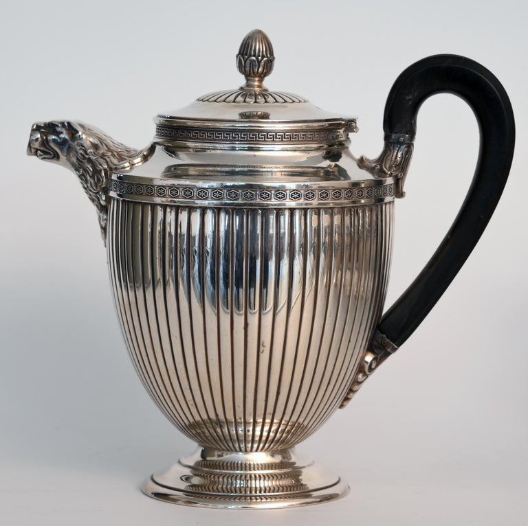 Jean E. Puiforcat Silver Timeless Set for Tea and Coffee in Neoclassical Form For Sale 6