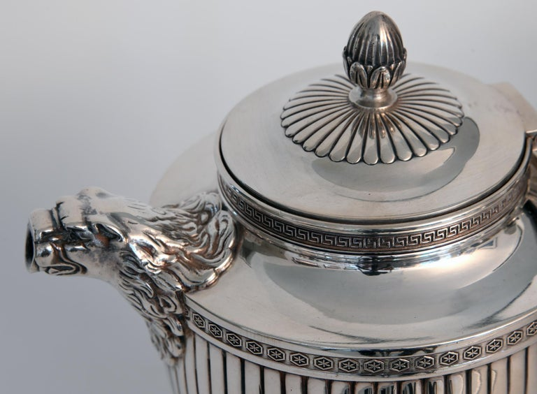 Jean E. Puiforcat Silver Timeless Set for Tea and Coffee in Neoclassical Form For Sale 9