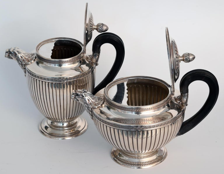 Jean E. Puiforcat Silver Timeless Set for Tea and Coffee in Neoclassical Form For Sale 10