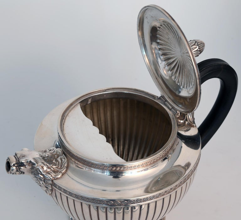 Jean E. Puiforcat Silver Timeless Set for Tea and Coffee in Neoclassical Form For Sale 11