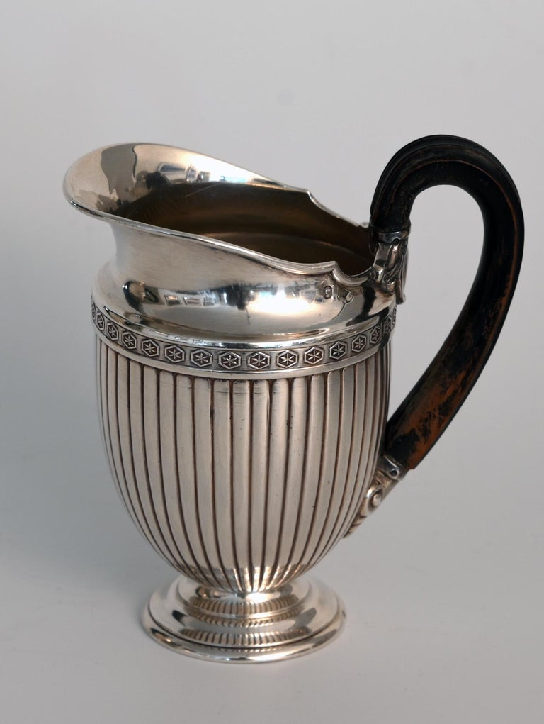 Jean E. Puiforcat Silver Timeless Set for Tea and Coffee in Neoclassical Form In Good Condition For Sale In Epfach, DE