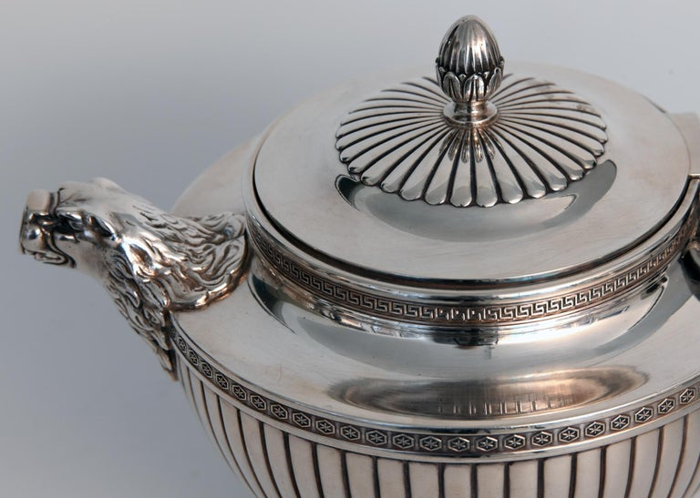 Jean E. Puiforcat Silver Timeless Set for Tea and Coffee in Neoclassical Form For Sale 1