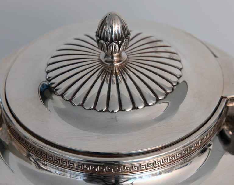 Jean E. Puiforcat Silver Timeless Set for Tea and Coffee in Neoclassical Form For Sale 2