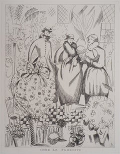 At the Florist - Original Handsigned Etching