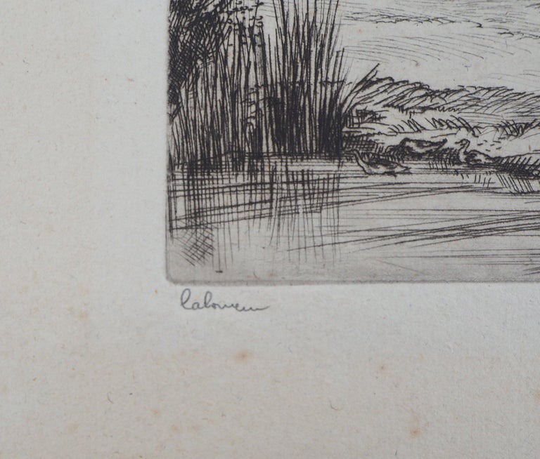 Houses in Brittany - Original Etching, Handsigned 2