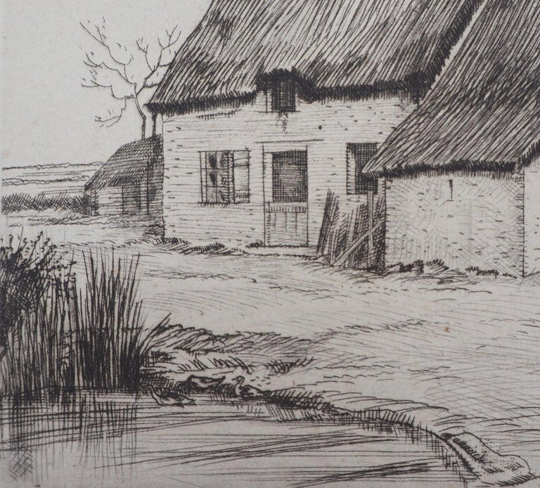 Houses in Brittany - Original Etching, Handsigned 6