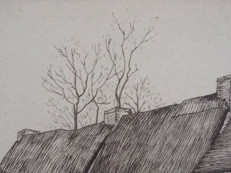Houses in Brittany - Original Etching, Handsigned 7