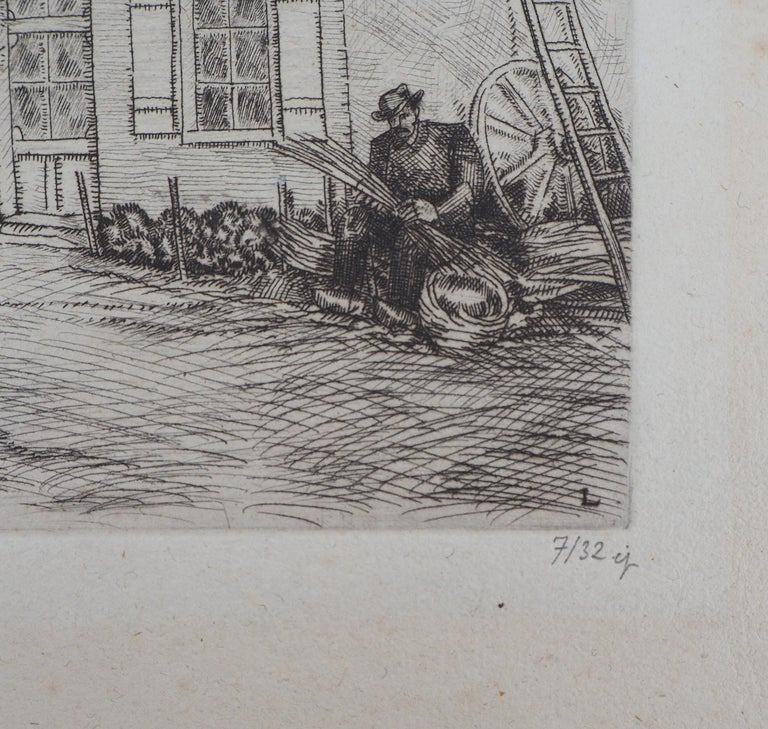 Houses in Brittany - Original Etching, Handsigned 8